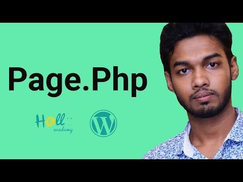 WordPress Theme Development Part 10(create page.php )