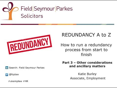 Redundancy A to Z (Part 3) - How to run a redundancy process from start to finish