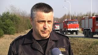 Groźny pożar lasu w gminie Jastrząb