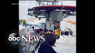11 people were injured on a broken ski lift in Eastern Europe