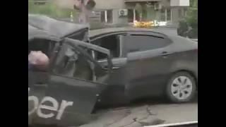 Момент ДТП на Малышева , где погибли двое и трое пострадали