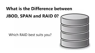 What is the Difference between JBOD, SPAN and RAID 0