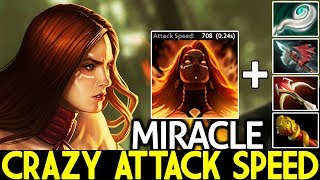 MIRACLE [Lina] Super Mid Crazy Attack Speed Full Physical Items 7.23 Dota 2