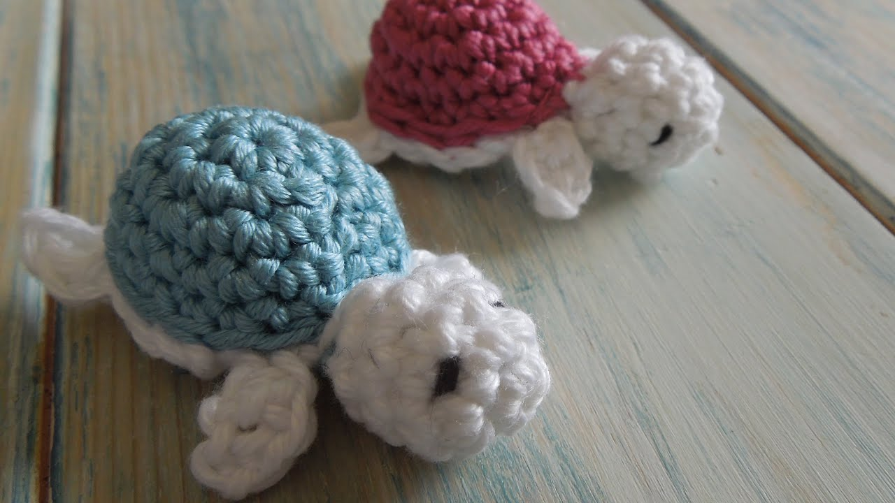 crochet) How To - Crochet a Baby Turtle - Yarn Scrap Friday - YouTube