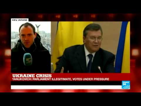 Ukraine: Yanukovych says Ukrainian victims are result of 'irresponsible West'