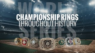 MLB championship rings throughout history
