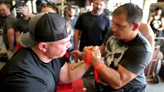 Armwrestling Practice with Some of the South's Strongest