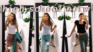 vlogging my high school outfits of the week!