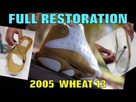 2005 AIR JORDAN WHEAT 13 RESTORATION!!