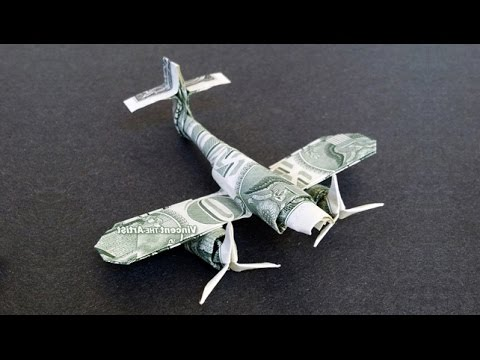 Messerschmitt Fighter Plane Money Origami