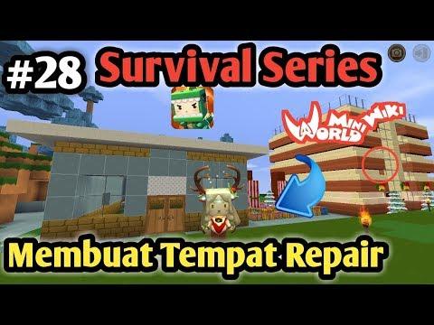 Membuat Repair Room Minimalis Di Mini World Block Art Survival Indonesia Episode 28 - 동영상