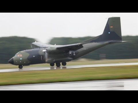 Crazy Transall Landing - Sarajevo Approach Of A German Air Force Transall (HD)