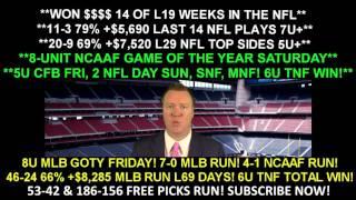 Week 6 Free NFL Picks - Indianapolis Colts vs Houston Texans SNF Prediction 10/16/16 8:30PM ET