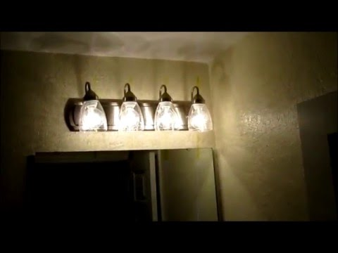 installing a Portfolio Bathroom Light Bar - YouTube