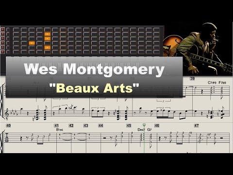 "Wes Montgomery ""Beaux Arts"" (1961) - jazz guitar solo transcription video by Gilles Rea"