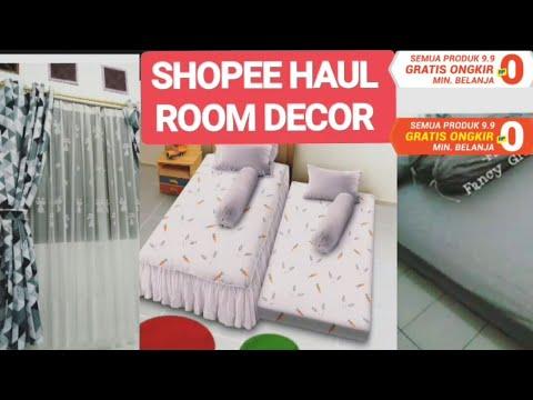 shopee haul- room decor !!! perlengkapan kamar!! harga