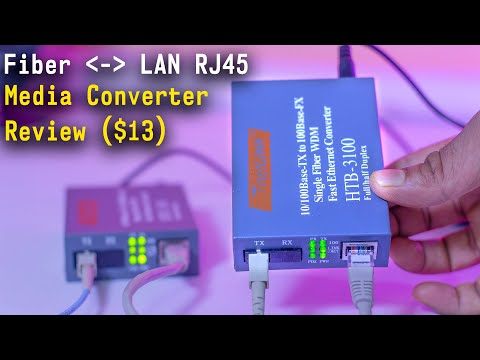 How To Convert Optical Fiber To LAN RJ45? - Media Converter Unboxing And Review.
