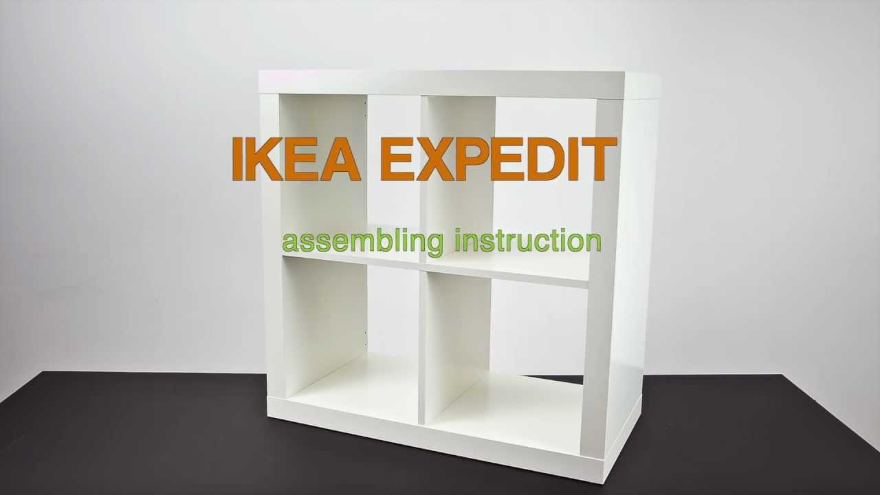 ikea expedit assembling instruction zusammenbau anleitung youtube. Black Bedroom Furniture Sets. Home Design Ideas