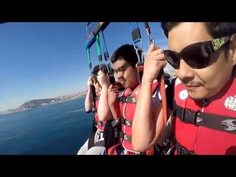 Parasailing in Port Olympic Barcelona