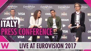 Italy Press Conference — Francesco Gabbani