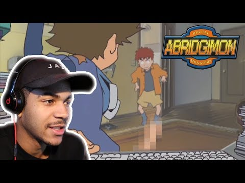 THIS IS SO FUNNY!  Abridgimon: THE MOVIE  Digimon Parody  REACTION