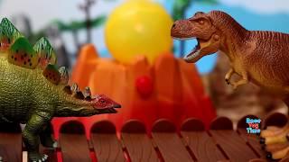 Dino Volcano Adventure - Fun Dinosaurs Toys For Kids Video