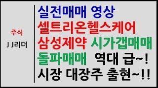 실전매매 셀트리온헬스케어 삼성제약 시가갭매매 돌파매매 …