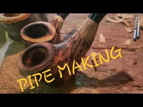 HOW TO MAKE A TOBACCO PIPE. DIY pipe.