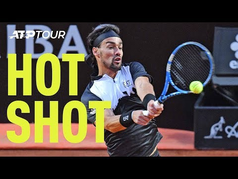 Hot Shot: Fognini's Flashy Video Game-Like Backhand | Rome 2019