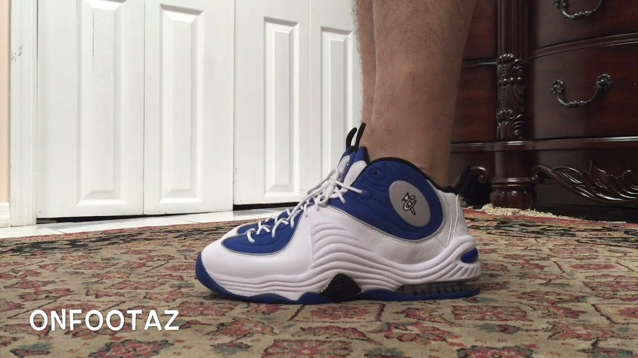 87a00d6d769aa1 Nike Air Penny 2 II Atlantic Blue 2015 On Foot - YouTube