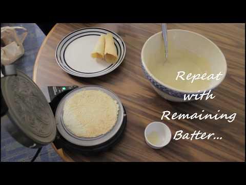 Krumkake Recipe Video