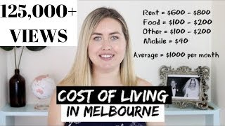 COST OF LIVING In Melbourne | Monthly Expenses Budget