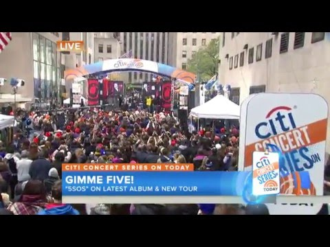 5 Seconds Of Summer - Hey Everybody Live On The Today Show