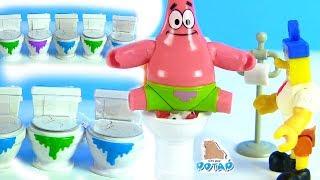 #Сюрпризы в Туалете! Питомцы из Унитаза! Губка Боб Квадратные Штаны! Видео для Детей! Миньоны