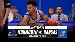 Gambar cover Monmouth vs. No. 5 Kansas Basketball Highlights (2019-20)   Stadium