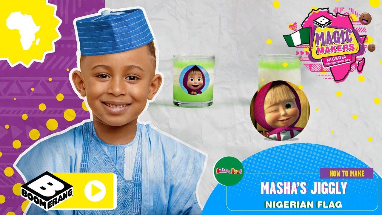 Masha Makes Nigerian Flag Jelly 🇳🇬 | Magic Makers | Boomerang Africa