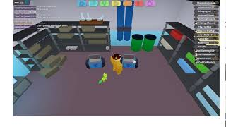 Literally me just kicking a bag in roblox