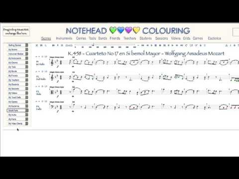 A Riot of Notation Colourings
