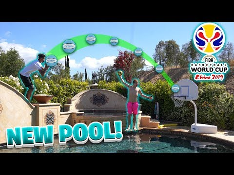 Crazy *NEW* 2HYPE Pool Mini Basketball Trickshots Challenge! #FIBAWC