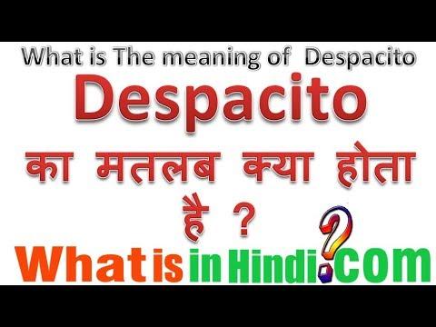 DESPACITO का मतलब क्या होता है | What is the