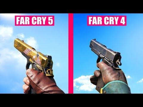 Far Cry 5 Guns Reload Animations vs Far Cry 4