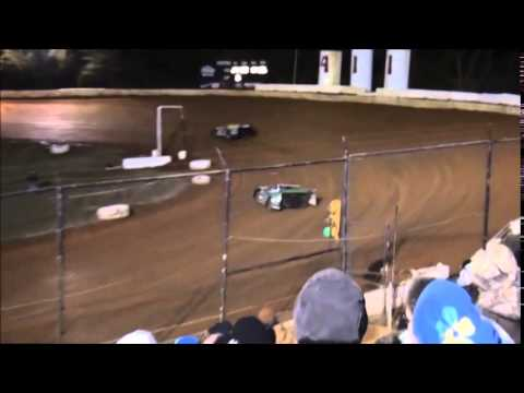 Super Late Model B-Main #2 from 411 Motor Speedway 1/1/15.