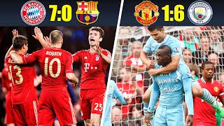 10 Most Humiliating Defeats In Matches Of Big Football Clubs 2010s Decade