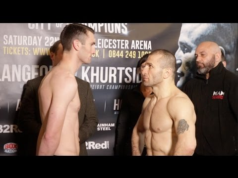 SHOCK HORROR! KHURTSIDZE FAILS WEIGHT! -TOMMY LANGFORD v AVTANDIL KHURTSIDZE OFFICIAL WEIGH IN