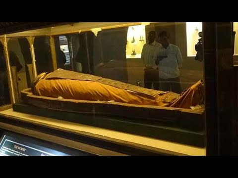 Jaipur The 2300 Year Old Egyptian Mummy At The Albert Hall Museum