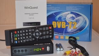 Новинка! Winquest T-2017 DVB-T2 Тюнер (ресивер) Т2 видеообзор (распаковка)