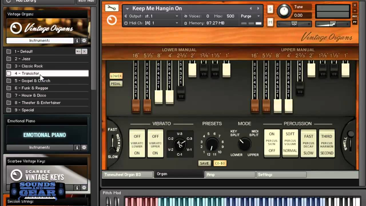 Native Instruments Vintage Organs review - SoundsAndGear