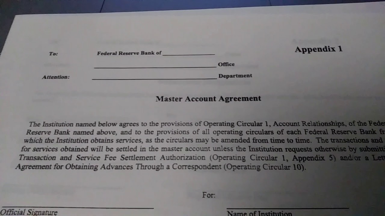 Accessing Your Master Account Agreement Youtube