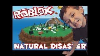 La vida con Mikey juega Roblox (Isla del Desastre) Plataforma de lanzamiento / Tormenta de arena usando Globo Verde