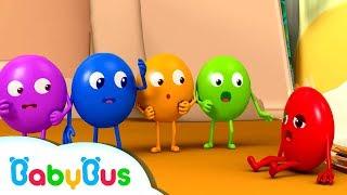 다섯개 무지개사탕 친구들 | 색깔놀이 | 베이비버스 인기동요모음 | BabyBus